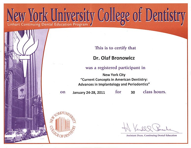 Implant Continuum Education NYU CD & OSIS & CEIA